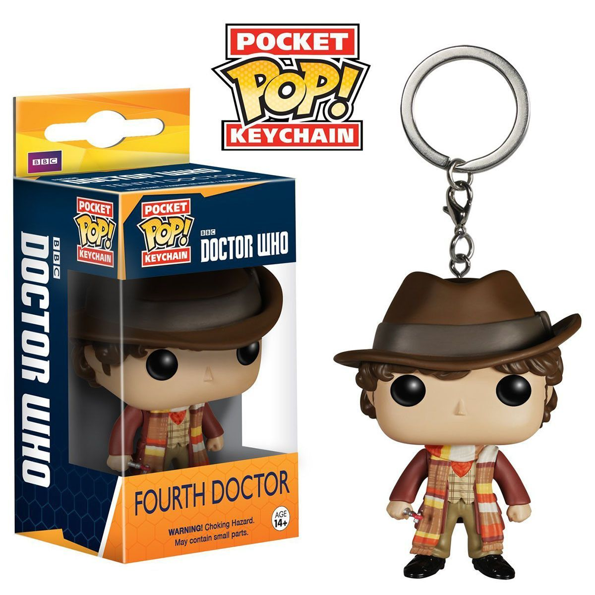 Doctor Who Pocket Pop Fourth Doctor Vinyl Figure Keychain Doctor Who 4th Doctor Vinyl Figures