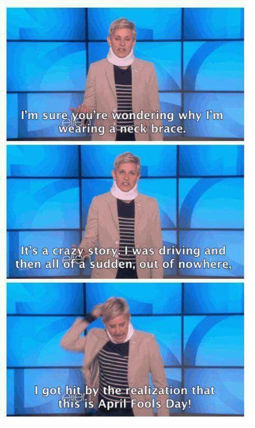 Neck Brace | Ellen degeneres funny, Ellen degeneres, Degeneres