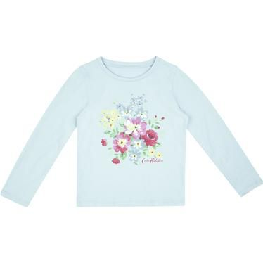 This lovely Spring Bouquet long-sleeve t-shirt is perfect for chilly days. Layer up with our Kensington Rose jersey cardigan to keep things cosy.