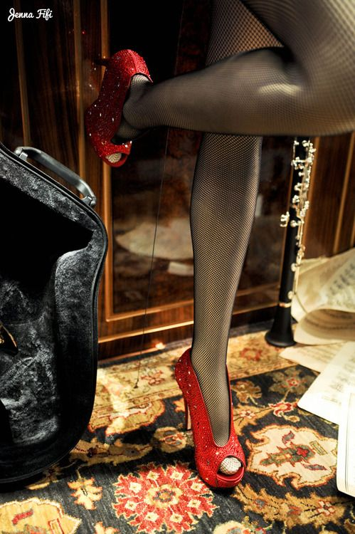 Stunning shoes at Harrods. More photos here. Photo by me, Jenna Walters