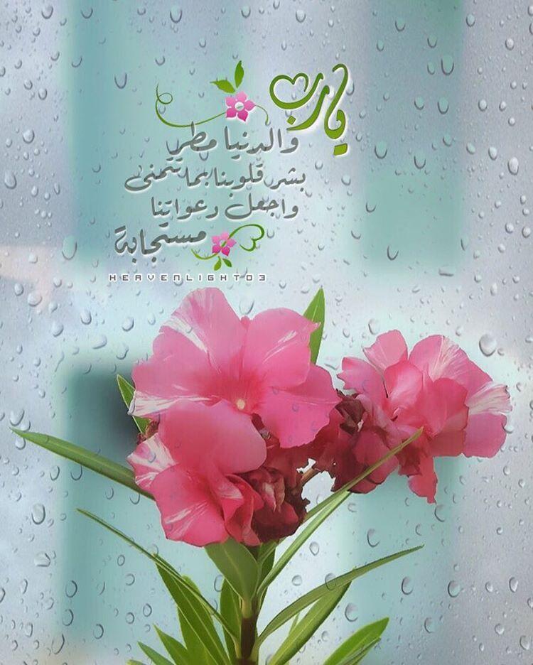 يارب والدنيا مطر بشر قلوبنا بما تتمنى واجعل دعواتنا مستجابة دعاء الوتر مطر Islamic Images Duaa Islam Winter Words