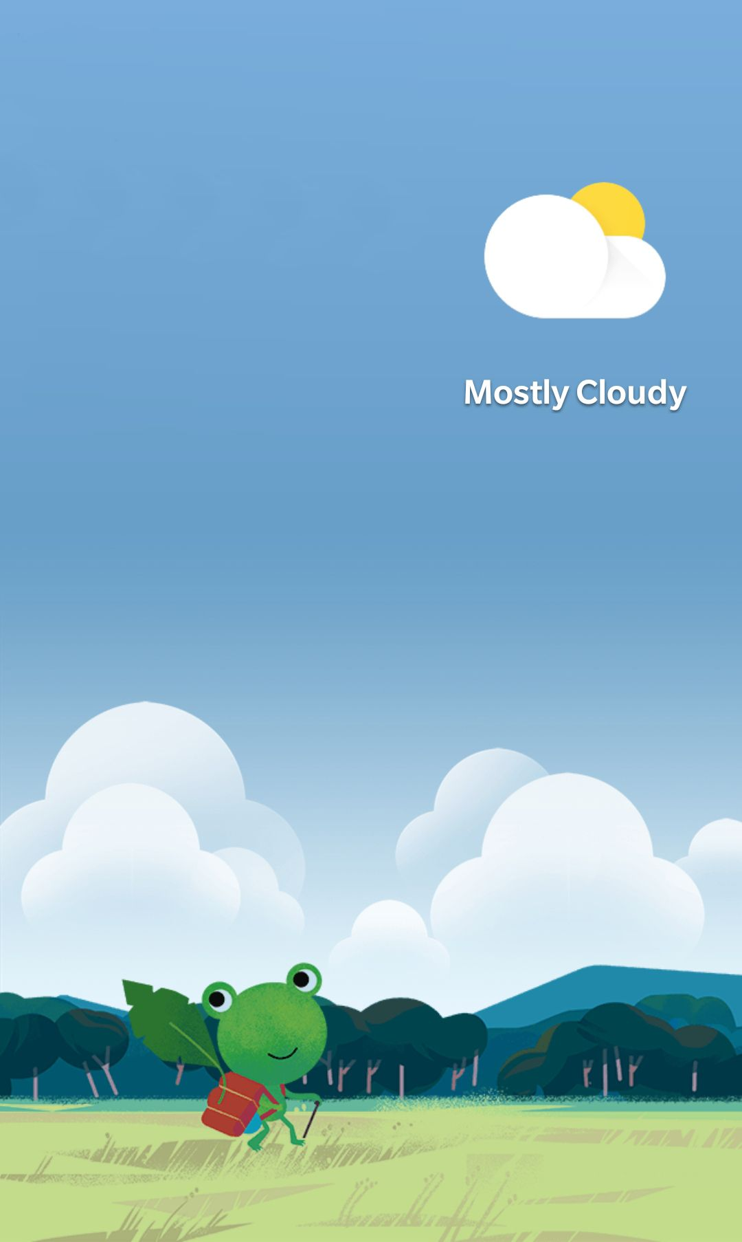 Google/Android weather frog mostly cloudy Google weather