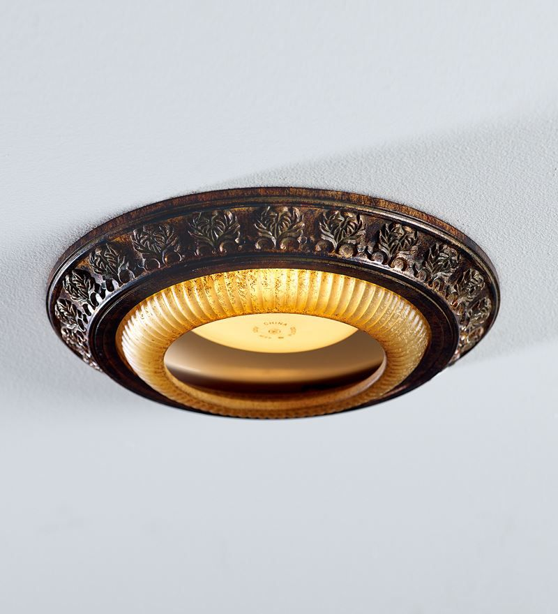 Acanthus Leaves Recessed Light Cap Ring In Decorative Bronze