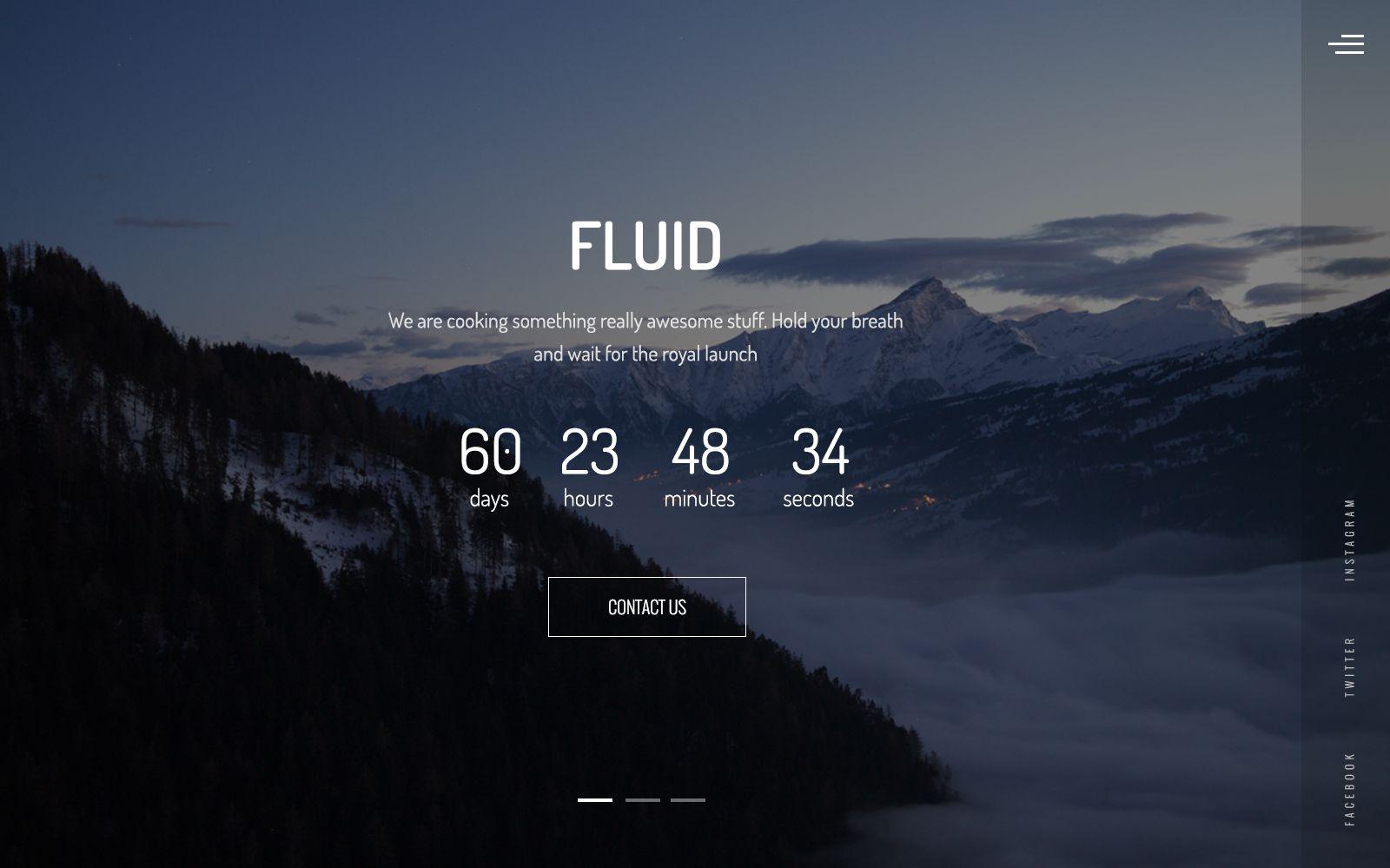 fluid animated coming soon template design pinterest website