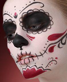 D a de los muertos mexikanische totenmaske costumes halloween pinterest fasching - Mexikanische totenmaske schminken ...