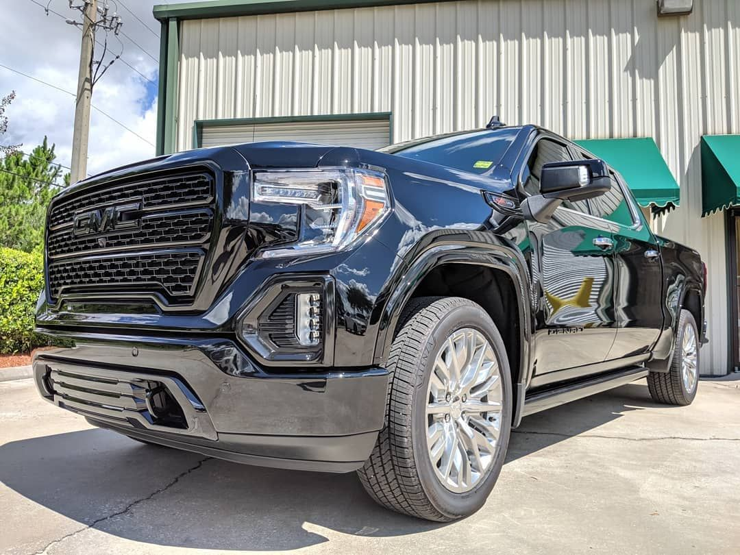 Fog Light Surround Wrap With Painted Grille Bumper Piece And Emblem Install On This Gmc Sierra Denali Call 9046275555 For A In 2020 Custom Vinyl Gmc Sierra Denali Gmc