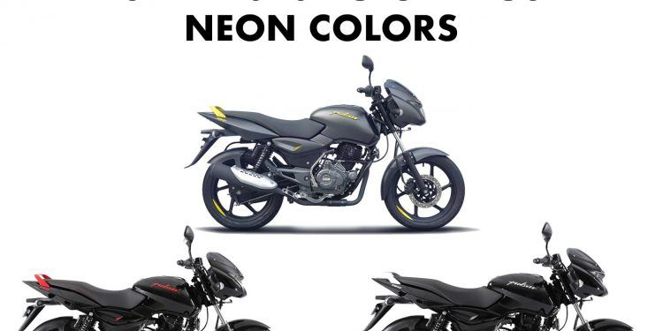 2019 Bajaj Pulsar 150 Neon Colors Yellow Red Silver Neon