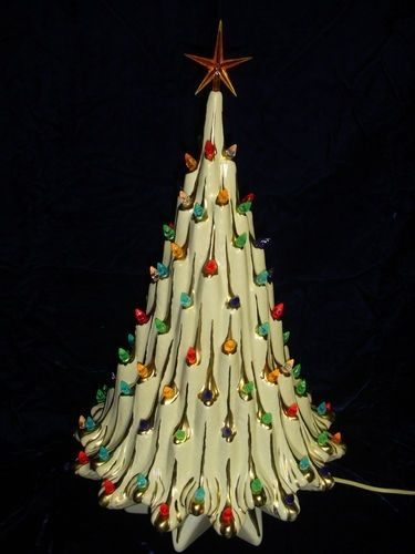 Would love to have one of these style vintage ceramic Christmas trees. Saw  something similar at Cracker Barrel ... - I Have A Vintage Christmas Ceramic Tree My Mother-in-Law Gave Me