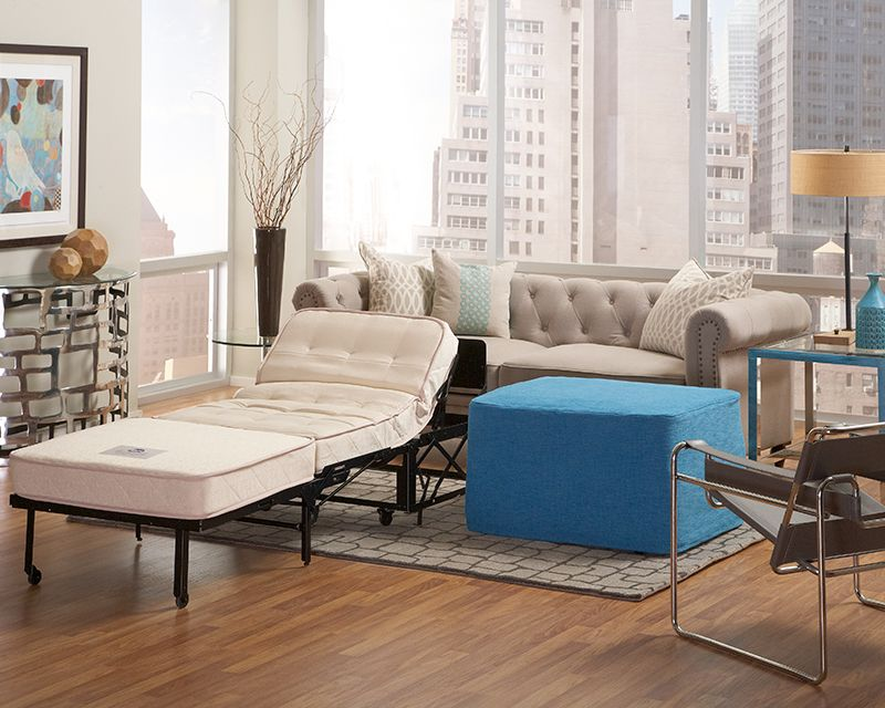 Gallery Ottoman Sleeper 39 Inch Twin Size Castro Convertible