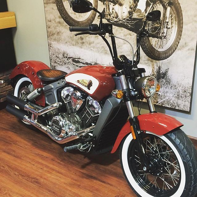 Tractor Seat Motorcycle : Indian scout with our antique brown alligator