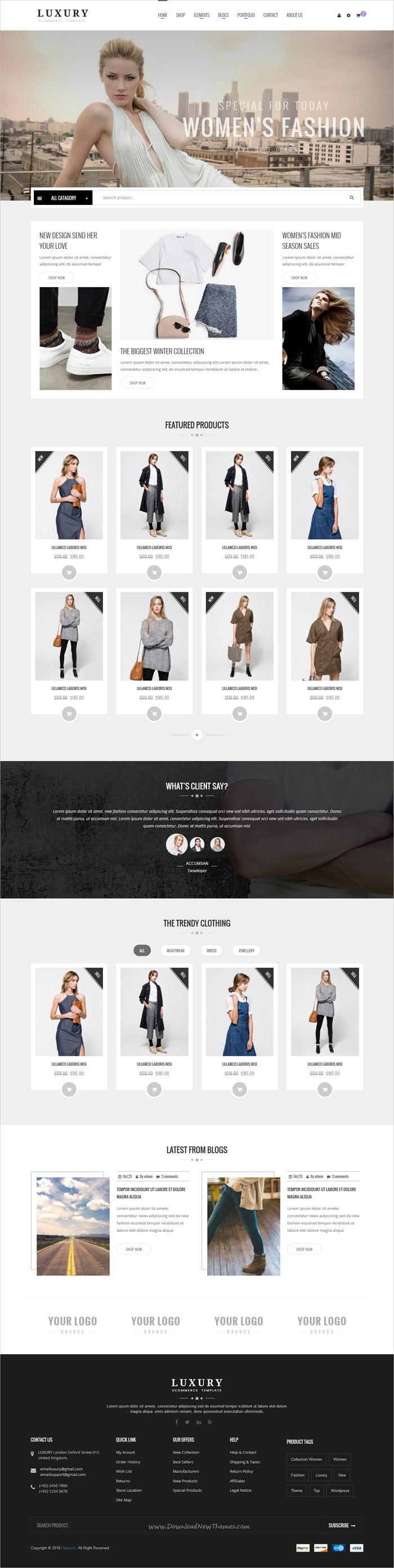 Luxury - eCommerce Fashion Template