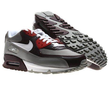 finest selection a4697 feac8  Nike Air Max 90 Mens Running Shoes Team Red White-Medium Grey-Varsity Red  325018-604-7