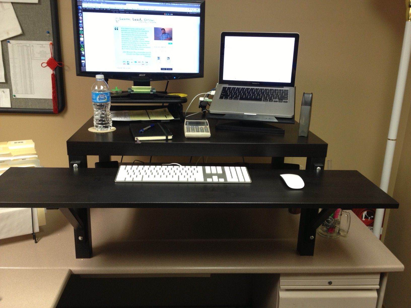 Everybody stand up my take on the ikea hack stand up desk Diy work desk