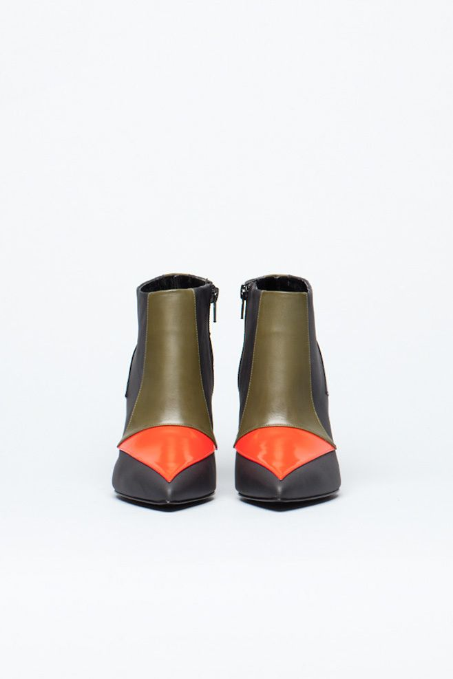 Pierre Hardy Tricolor Ankle Boot (Multi)