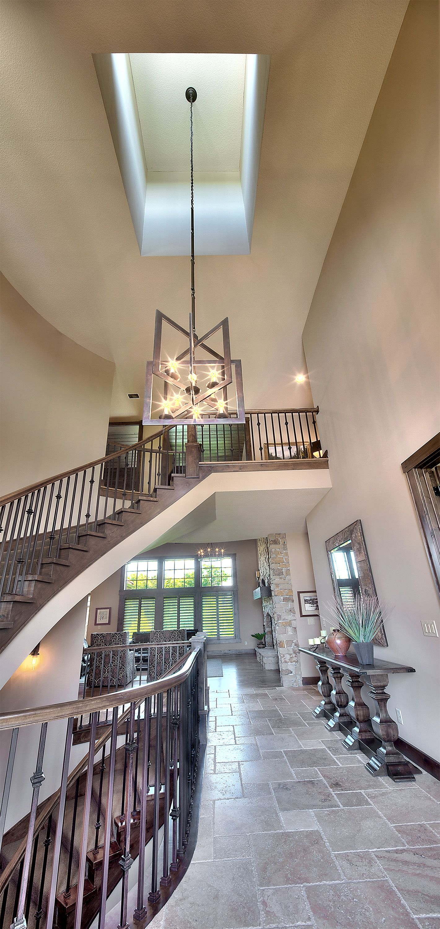Best Entry Curved Staircase Foyer Skylight Skylight 400 x 300