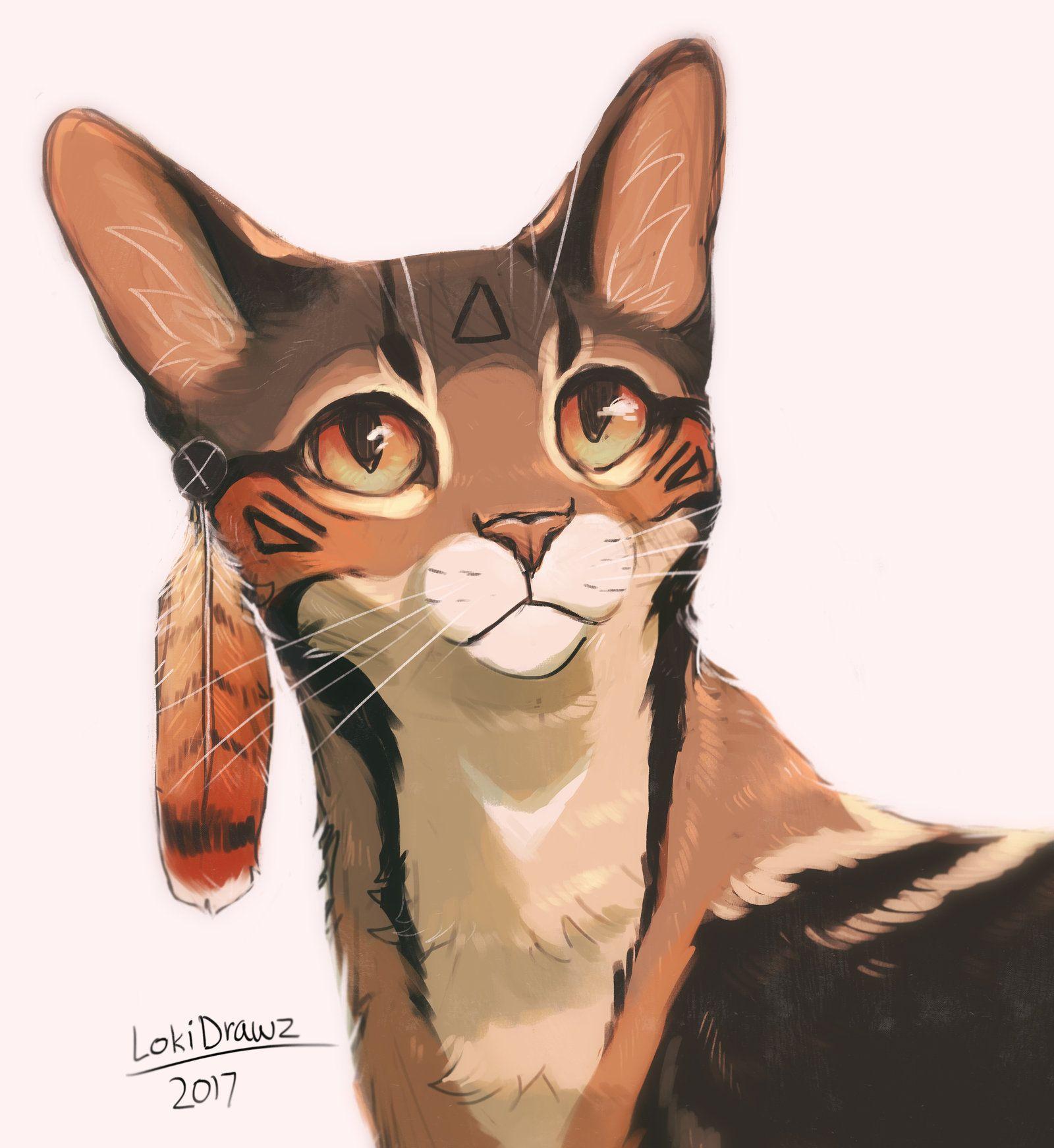 Art By Lokidrawz On Deviantart Com Warrior Cat Drawings