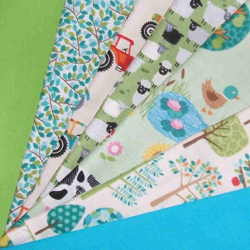 Jolly Farm Fabric-Patchwork Quilters Bundle 100% Cotton, Tractor ... : ebay quilting fabric - Adamdwight.com