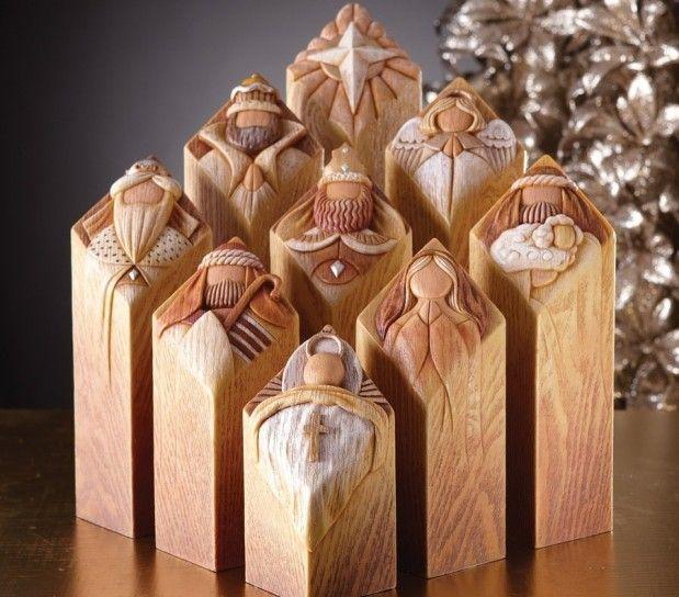 Presepi di design | Presepe di legno, Set di presepi, Presepe di