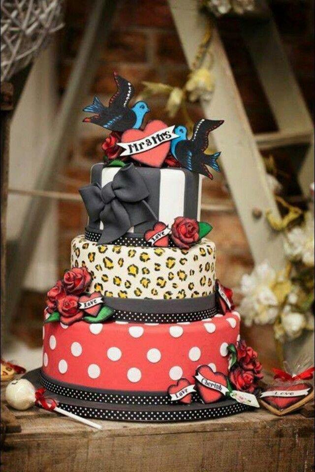 Hochzeitstorte Rockabilly Hochzeit Cake Wedding Cakes Und