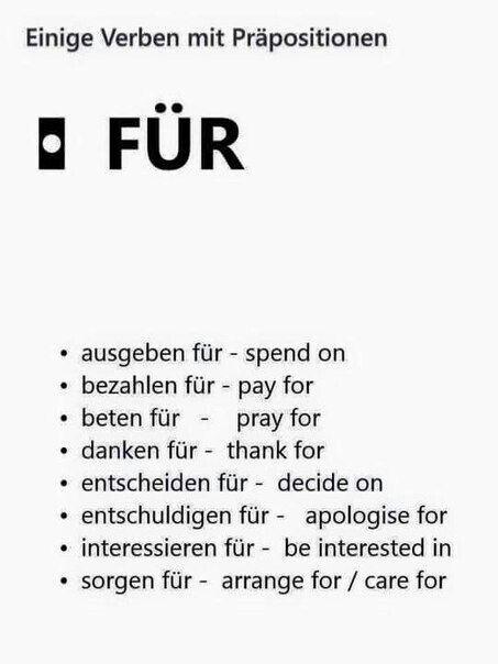 Präpositionen: für | German words | Pinterest | German, Language and ...