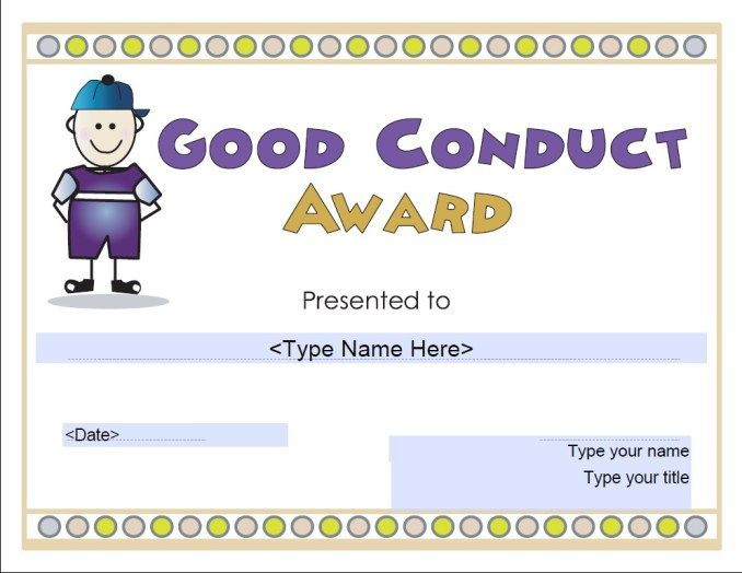 Good Conduct Certificate Stationary Templates Pinterest