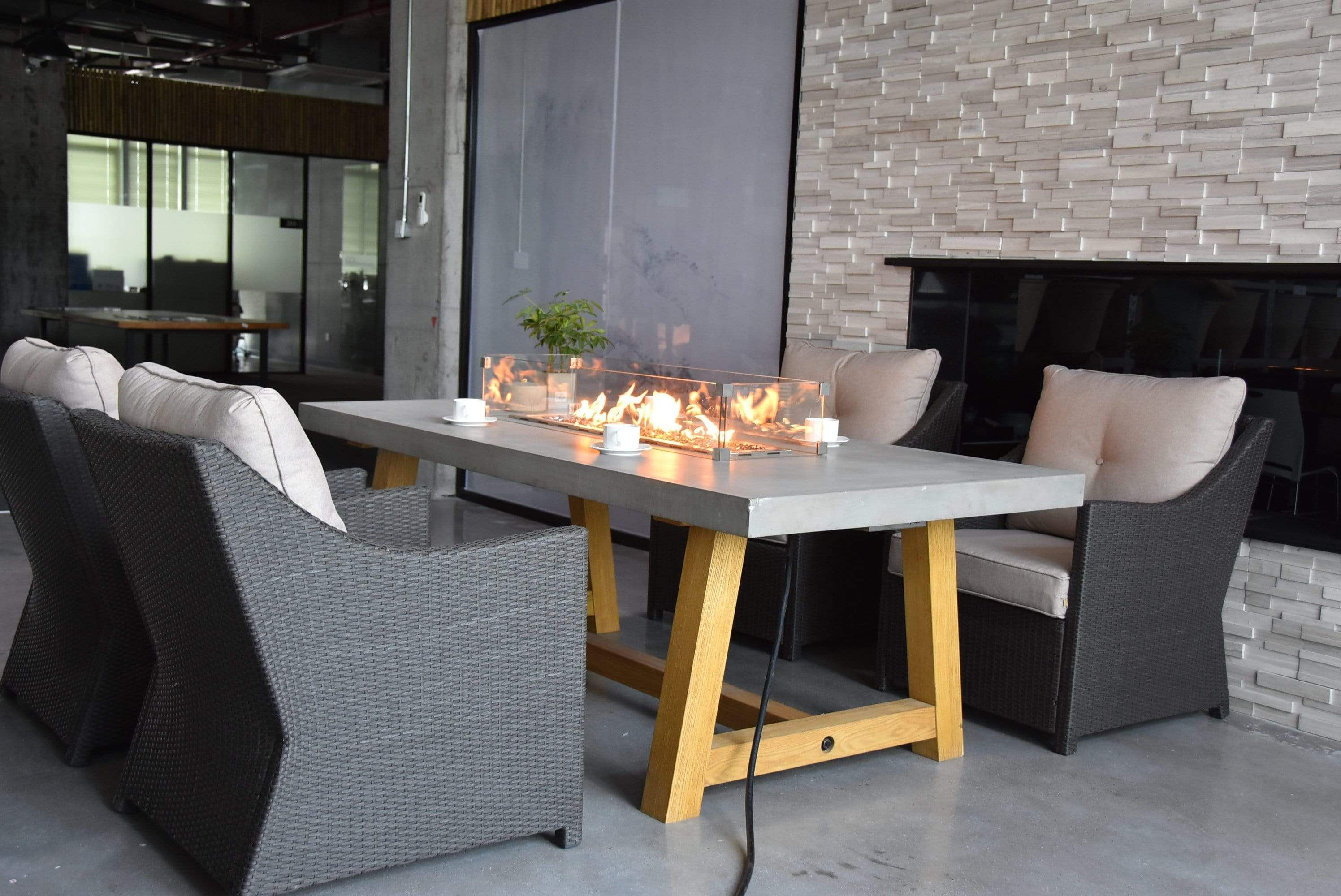 Workshop Fire Dining Table In 2021 Outdoor Fire Pit Table Fire Table Fire Pit Table Modern outdoor fire dining table