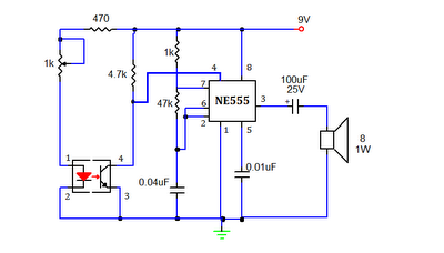 smoke detector or sensor circuit using 555 timer ic with working ...