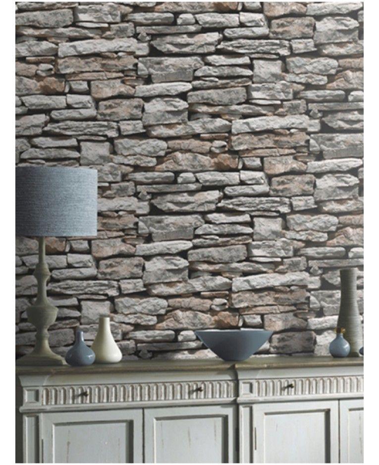 Moroccan Wall Natural Slate Stone Wallpaper Arthouse 623000 Stone Wallpaper Grey Stone Wallpaper Brick Effect Wallpaper