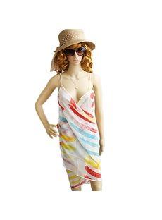 Fresh Lovely Stripe Chiffon Summer Scarf