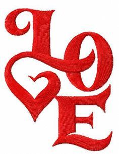 Love free embroidery design #lovedesign #embroidery #romantic #ValentinesDay2018