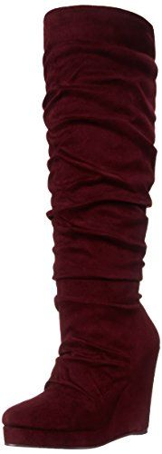 Michael Antonio Womens EastinSue Slouch Boot Cranberry 75 M US -- See this great product.