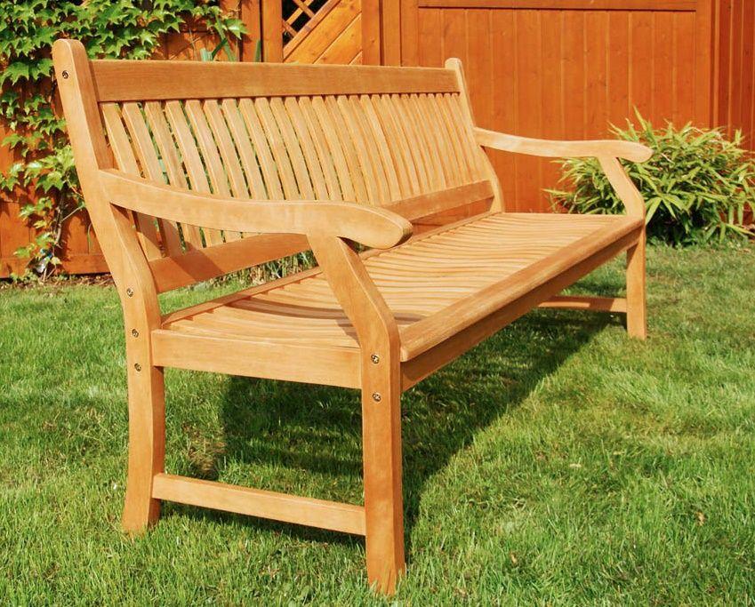 Gartenbank 4 Sitzer Yellow Balau Komfortable Und Robuste