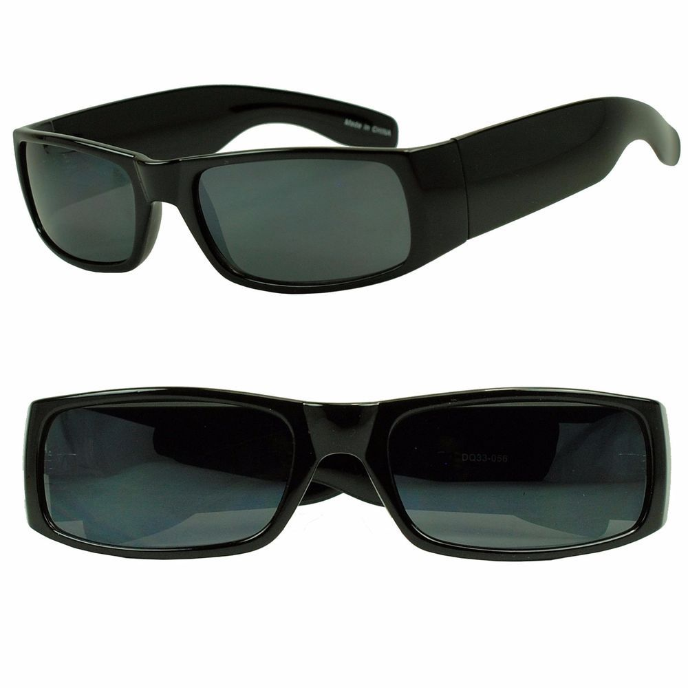 Matt schwarze Gangster Locs Herren Sonnenbrille im OG Style Linsen superdark 24M1xUSFs