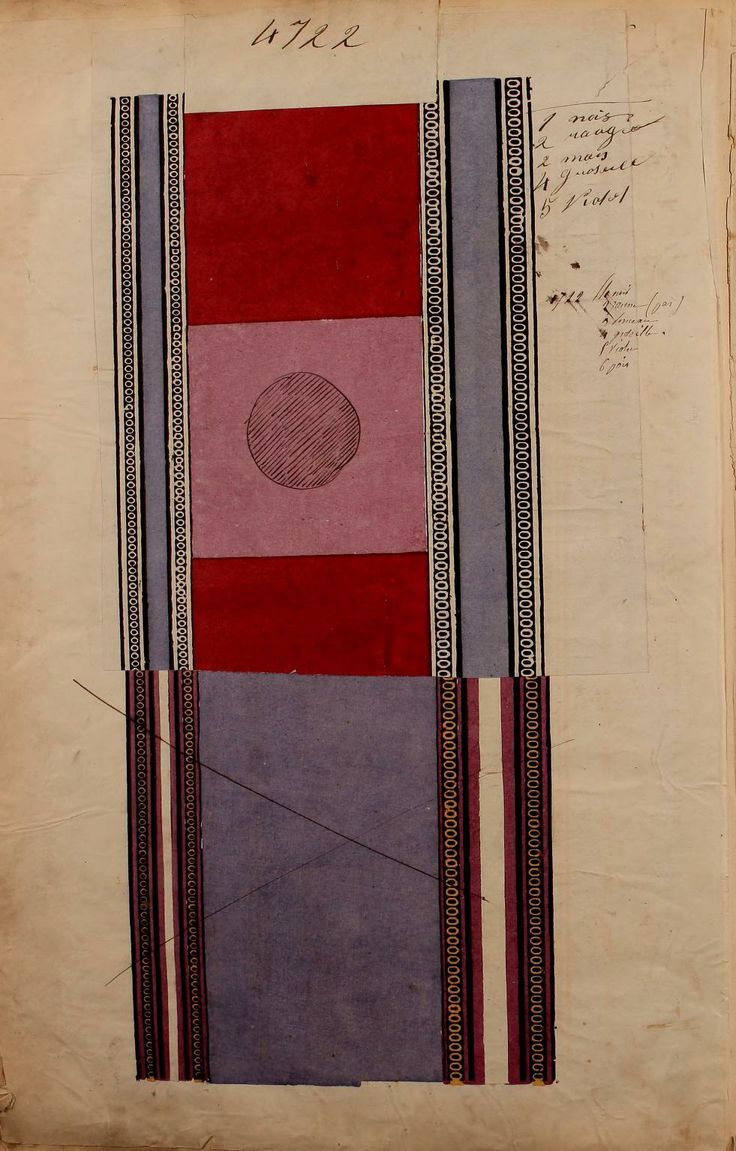 French textile sample book 1863 textile patterns