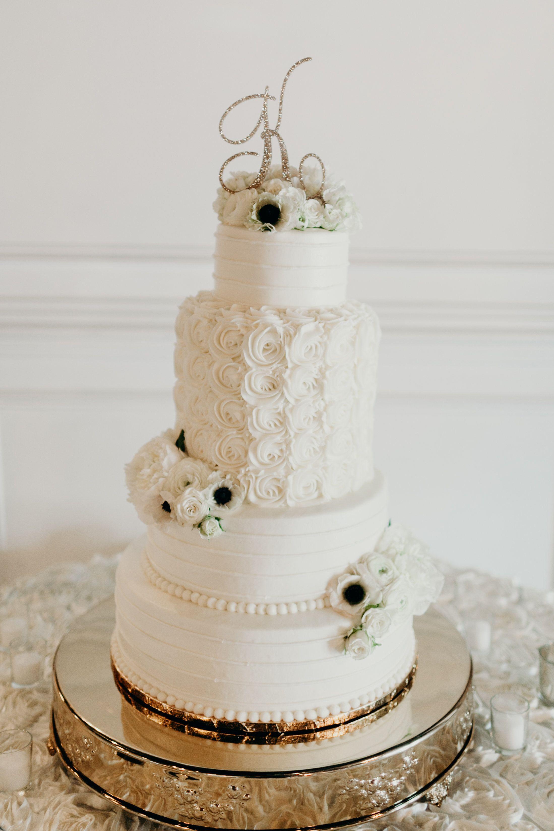 Monogram Letter Wedding Cake Topper in Gold Glitter   Handmade ...