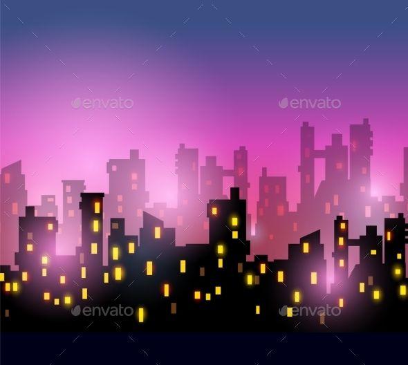 City City Landscape City Silhouette Night City