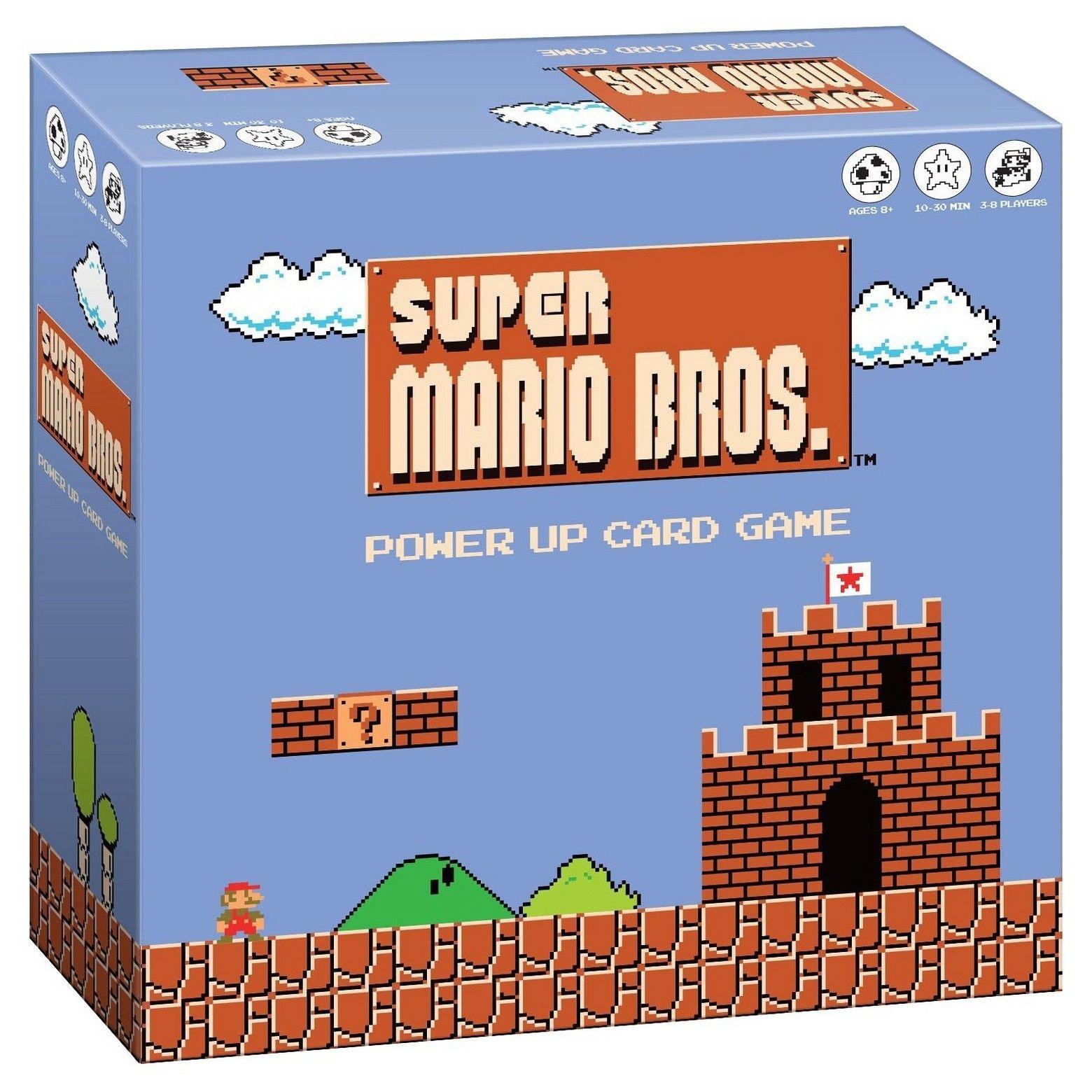 Super Mario Bros Power Up Card Game Mario Bros Super Mario Bros Card Games