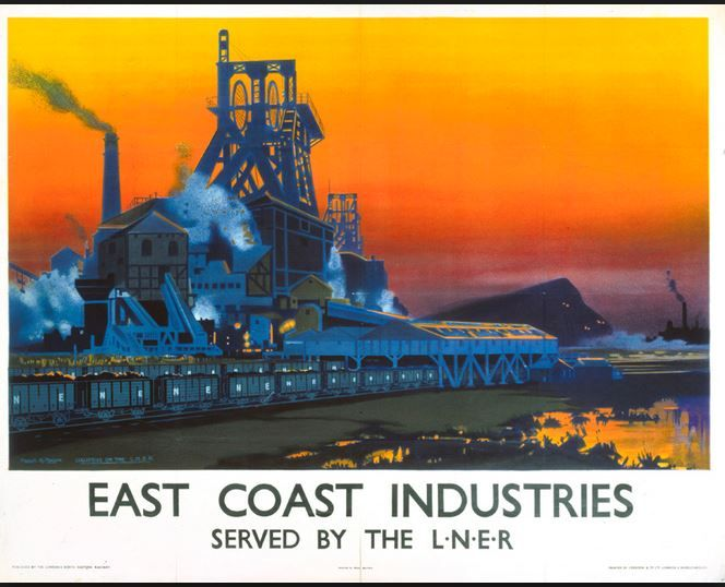 Vintage LNER East Coast Occupations Boatbuilding  Railway Poster A3//A2 Print
