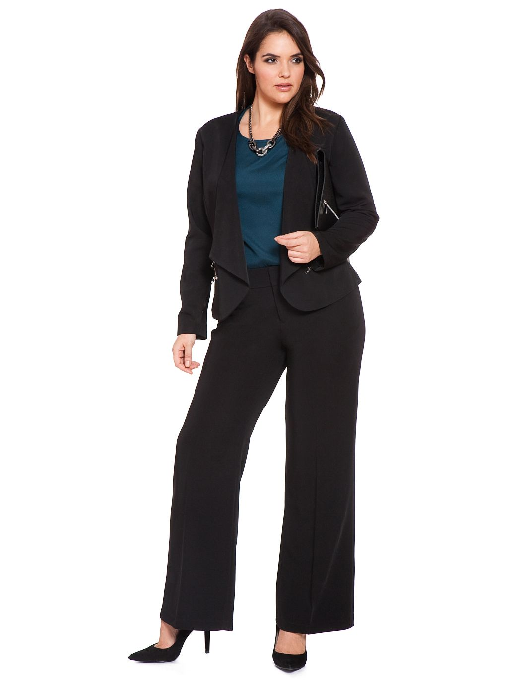 Plus Size Women Pant Suit