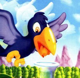 قصة الغراب والجرة Crow Character Hedgehog