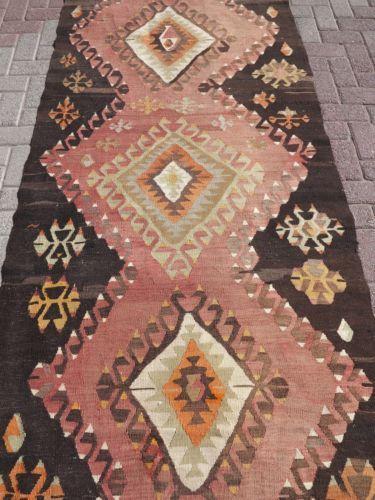 Vintage-Turkish-Rug-Runner-Antalya-Nomad-Kilim-Runner-42-9-034-X140-5-034-Carpet-Runner