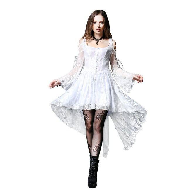 Black Gothic Sexy Fishtail Dress - Devilnight.co.uk