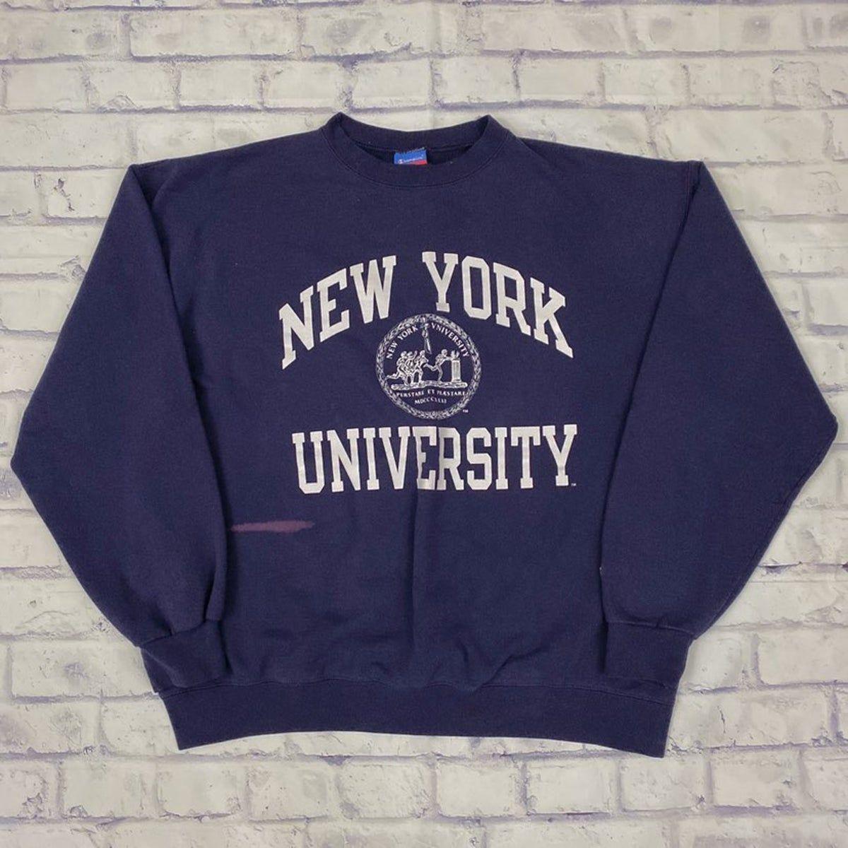 Champion New York Nyu Pullover Sweater Nyu Sweatshirt College Shirts Nyc Student [ 1200 x 1200 Pixel ]