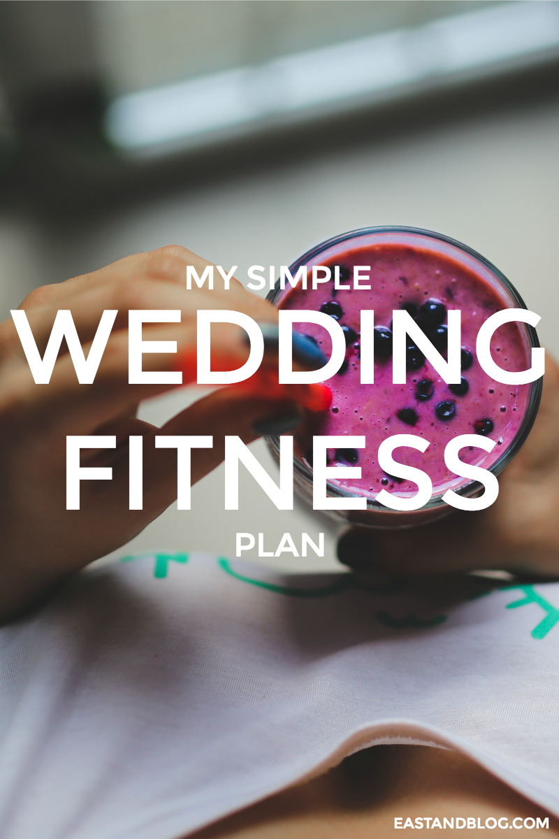 My Simple Wedding Fitness Plan | eastandblog.com - also great way to get started on a fitness plan