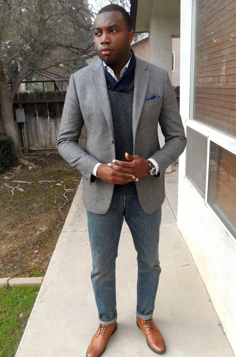 Man shall not live by suit and tie alone. SPORTS COAT