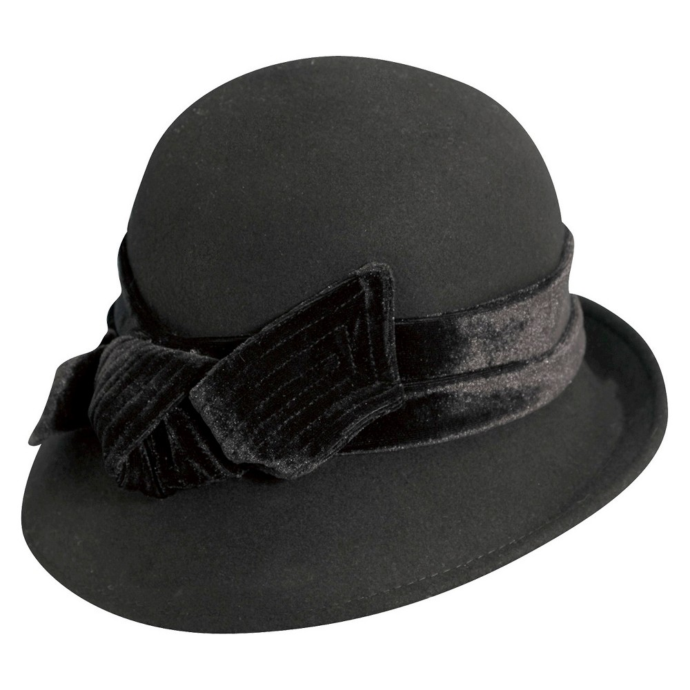 dbf43abcf811b 1920s Style Hats Scala Collezione Womens Wool Cloche Hat - Black  38.99 AT  vintagedancer.com