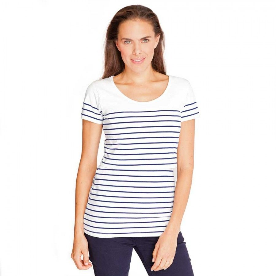 fd7ebbef6779e Breton Stripe Nursing Tee | Mama Stylin | Breastfeeding tops ...