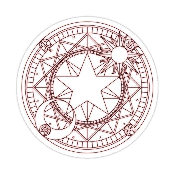 Card Captor Sakura Circle Sticker By Mkawaii In 2021 Sakura Tattoo Cardcaptor Sakura Magic Circle