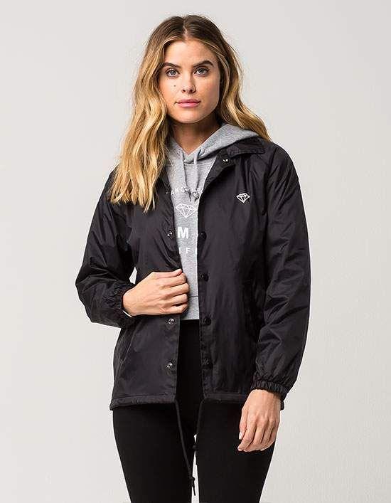 0ea51e5b1cd4 DIAMOND SUPPLY CO. Logo Womens Coaches Jacket