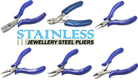 There are many types of pliers used in jewelry making